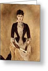 Portrait Of Isabella Reisser Greeting Card