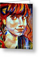 Portrait Of Ivana Greeting Card
