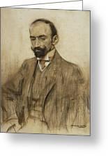 Portrait Of Jacinto Benavente Greeting Card