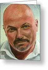 Portrait Of Jamez Ronald Prudlick Greeting Card