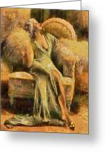 Portrait Of Jean Harlow Greeting Card
