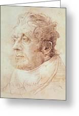 Portrait Of Jmw Turner Greeting Card by Cornelius Varley