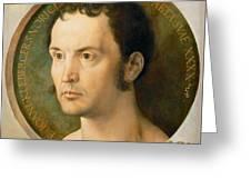 Portrait Of Johannes Kleberger Greeting Card
