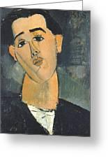 Portrait Of Juan Gris Greeting Card