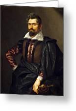 Portrait Of Kaspar Scioppius Greeting Card