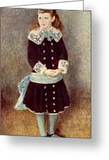 Portrait Of Martha Berard Greeting Card
