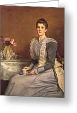 Portrait Of Mary Chamberlain Greeting Card