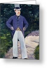 Portrait Of Monsieur Brun Greeting Card