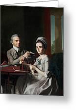 Portrait Of Mr And Mrs Thomas Mifflin Greeting Card