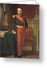 Portrait Of Napoleon IIi 1808-73 1862 Oil On Canvas Greeting Card