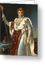 Portrait Of Napoleon In Coronation Robes Greeting Card