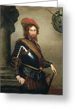 Portrait Of Nicolo Raggi Greeting Card
