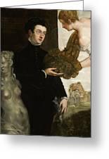 Portrait Of Ottavio Strada Greeting Card