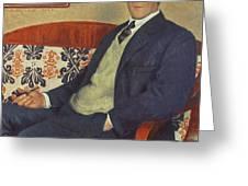 Portrait Of Peter Kapitza 1926 Greeting Card