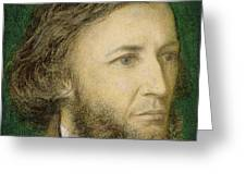 Portrait Of Robert Browning Greeting Card