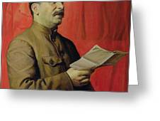Portrait Of Stalin Greeting Card