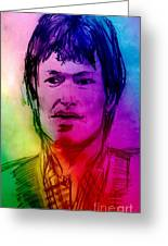 Rainbow Portrait Of Stevie Winwood Greeting Card