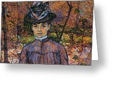 Portrait Of Suzanne Valadon Greeting Card
