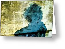 Portrait Of The Artist As Shadow 3 Greeting Card