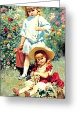 Portrait Of The Artists Children Greeting Card