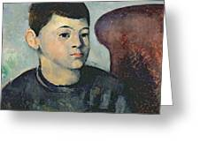 Portrait Of The Artists Son Greeting Card