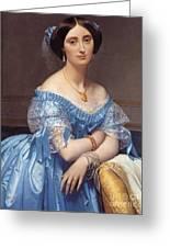 Portrait Of The Princesse De Broglie Greeting Card