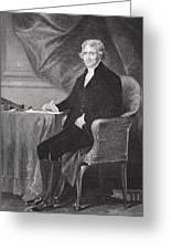 Portrait Of Thomas Jefferson Greeting Card by Alonzo Chappel