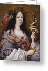 Portrait Of Vittoria Della Rovere As Saint Vittoria Greeting Card