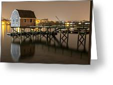 Portsmouth Harbor Night 2 Greeting Card