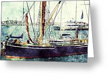 Portsmouth Harbour Boats Greeting Card