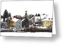 Portsmouth Waterfront Pwwc Greeting Card