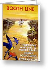 Portugal Vintage Travel Poster Greeting Card