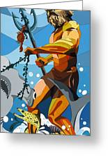 Poseidon - W/hidden Pictures Greeting Card