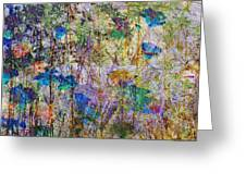 Posies In The Grass Greeting Card