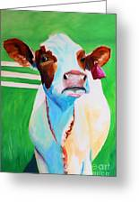 Posing Cow Greeting Card