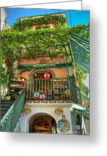 Positano Deli Greeting Card by Bob and Nancy Kendrick