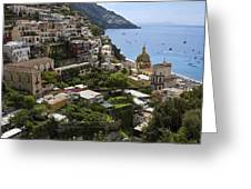 Positano Overview Greeting Card