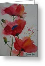 Positively Poppies Greeting Card