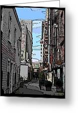 Post Alley 6 Greeting Card