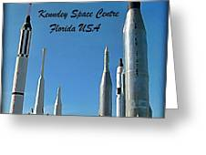 Post Card Of The Kennedy Space Centre Florida Greeting Card