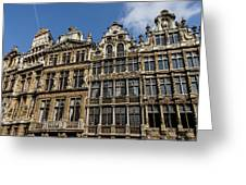 Postcard From Brussels - Grand Place Elegant Facades Greeting Card