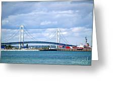 Postcard Of Mackinaw City Greeting Card