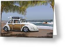 Postcards From Otis - Beach Corgis Greeting Card