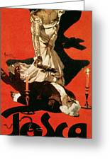 Poster Advertising A Performance Of Tosca Greeting Card