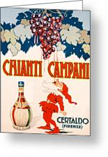 Poster Advertising Chianti Campani Greeting Card by Necchi