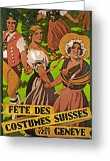 Poster Advertising F?te Des Costumes Greeting Card