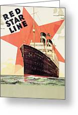 Poster Advertising The Red Star Line Greeting Card