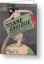 Poster Advertising Tisane Gauloise Greeting Card