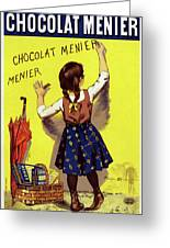 Poster Chocolate, 1893 Greeting Card