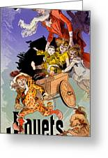 Poster For Aux Buttes Chaumont Toy Greeting Card